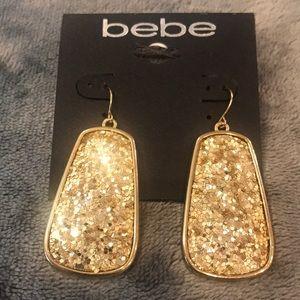 NEW Bebe Gold Glitter Earrings